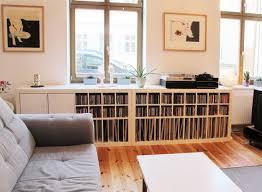 Wohnzimmer Regale Design Expedit Regal Von Musik Fans Ausgestattet Mit Schallplatten