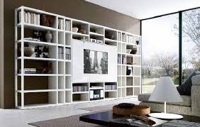 living room design with hanging bookcases design furniture
