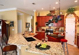 kitchen countertop ideas orlando orlando granite kitchen countertop with undermount sinks and backsplash adp surfaces