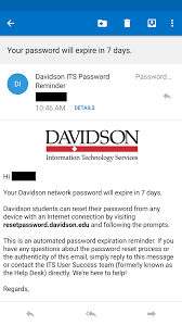 Student Help Desk by Reset Password Notification Emails