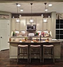 interior chandelier unique kitchen island lighting above white