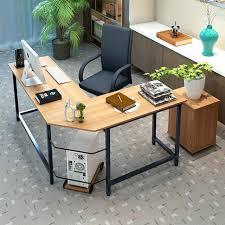 Office Computer Desk Computer Desk L Shaped L Shaped Corner Desk With Hutch Dark Russet