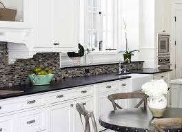 kitchen trendy kitchen white backsplash cabinets off with black
