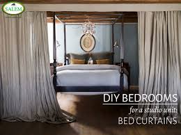 diy bedrooms for a studio unit bed curtains the official blog bed curtains banner