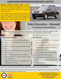 renault amw sales executive renault colombo job vacancy in sri lanka