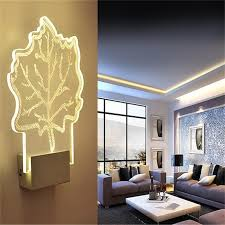 Bedroom Led Lights by Fashion Wall Lamp 5w Acrylic Iron Wall Lights Ac90v 265v Led