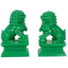 green foo dogs christmas classical bronze copper evil door guardian fu