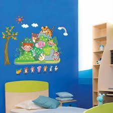 Jungle Wallpaper Kids Room by Online Shop Jungle Wild Cartoon Zoo Animal Wall Sticker For