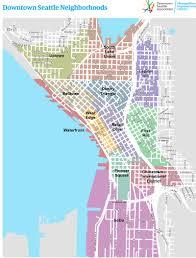 Seattle Neighborhood Map by Downtown Seattle Association Residents Council Dsa Steering