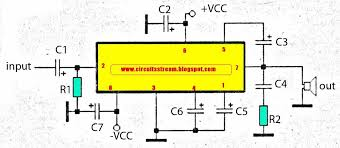 simple subwoofer amplifier circuit diagram with 30w output power