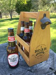 christmas gift for men wood beer caddy 6 pack beer carrier mens
