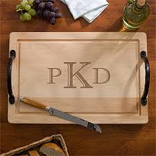 monogramed cutting board personalized 18 maple cutting board raised monogram for the home