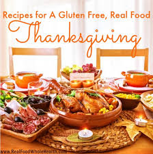 recipes for a real food gluten free thanksgiving meal
