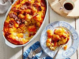 cooking light breakfast casserole tater tot breakfast bake recipe southern living