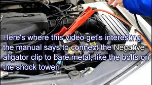 how to safely jump start a car owners manual instructions youtube