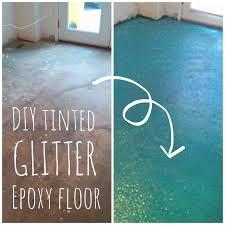 Glitter Bathroom Flooring - diy turquoise glitter epoxy floor lola tangled retro whimsy