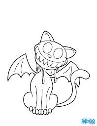 cat bat monster coloring pages hellokids com