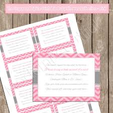 Card Inserts For Invitations Insert Card Book Instead Of A Card Pink Chevron