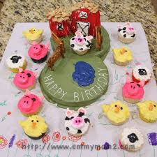 emmy mom one day at a time 2 year old farm birthday cake