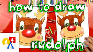 how to draw rudolph youtube