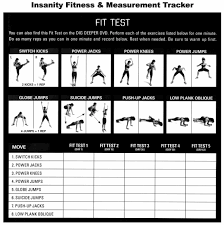 image gallery insanity workout schedule worksheets