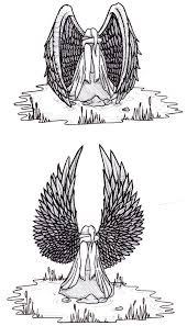 angel tombstone tattoo