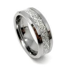 meteorite mens wedding band 8mm tungsten carbide meteorite men s wedding band ring