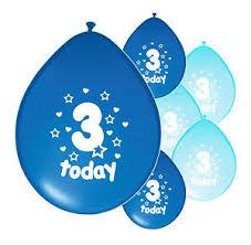 birthday boy 10 x 3rd birthday boy balloons 3 today third birthday balloons