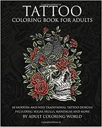 amazon com tattoo coloring book for adults 40 modern and neo