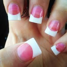 pink an white powder solar white tips nails pinterest solar