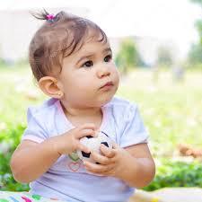 portrait a cute hispanic baby u2014 stock photo kmiragaya