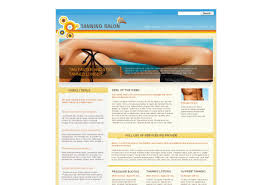 tanning salon web template pack from serif com