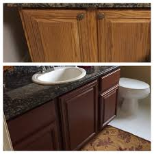 Kitchen Cabinet Transformations Top Pic Before Color Bottom Pic After Using Rustoleum Cabinet