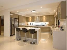dream open concept kitchen white cream cabinets island house