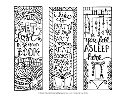 free printable coloring page bookmarks dawn nicole designs