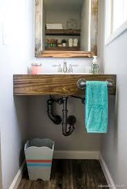 Spray Paint Bathroom Vanity Diy Floating Wood Vanity Wood Vanity Small Spaces And Sinks