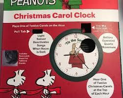 peanuts musical carol clock snoopy 12 carols light