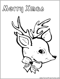 reindeer coloring pages free printable colouring pages kids