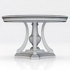 james and james tables restoration hardware st james round dining table 3d model max obj