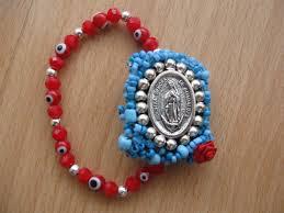 virgen de guadalupe mexican bracelet evil eye bracelet red