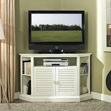 Tall Corner Bookshelves by Stylish White Tall Corner Tv Stand Cabinet With Shutter Door Plus