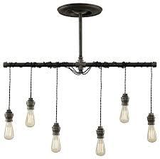 Pendant Light Chandelier Dixon 6 Light Pendant Industrial Pendant Lighting By West