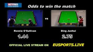 O Sullivan Furniture by O U0027sullivan Vs Ding Junhui Live Streaming Information Snooker World
