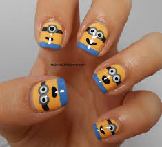 nail designs minions beautify themselves with sweet nails