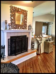 home interior bird cage rustic modern fireplace decor mirror living room fireplace small