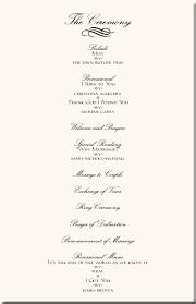 ceremony programs wedding wedding ceremony phlet wedding programs wedding program wording