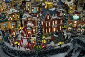 photographing a miniature city by department 56