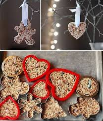 helping grow up how to make birdseed ornaments