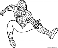 spiderman coloring pages free download printable spiderman