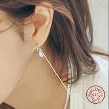 earring with chain to cartilage online shop 100 925 sterling silver earring chain cartilage